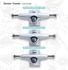 Tensor Trucks Size Guide Slam City Skates
