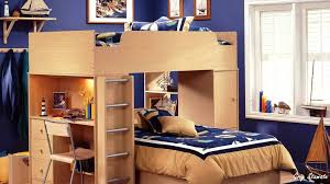 image space saving bedroom. Bedroom:Winsome Space Saving Bed Ideas For Boys With Wooden Bunk And Blue Wall Image Bedroom