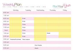 Sample Of Schedules How To Plan A Week With A Sample Homeschool Schedule