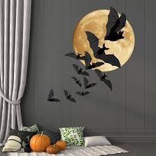 office halloween decorating ideas. Office Halloween Decorating Ideas. Wonderful Bats And Moon Wall Decor Full A Colony Ideas
