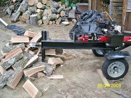my home made wood splitter what cha think