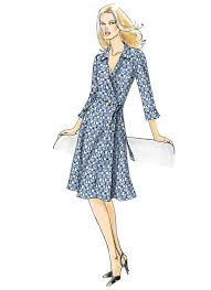 Wrap Dress Sewing Pattern Impressive V48 Misses' ALine Wrap Dresses Sewing Pattern Vogue Patterns