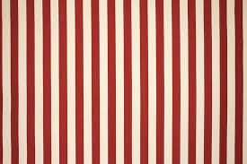 red and white stripe curtains