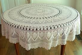 great round lace tablecloths m0091975 white plastic