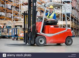Man Driving Forklift Truck Stock Photo 283542076 Alamy