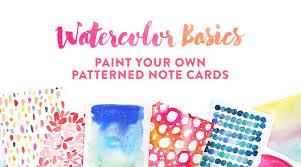 watercolor basiscs for beginners class