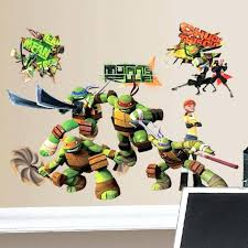 ninja turtle decals ninja turtle wall decals l and stick teenage mutant ninja turtles wall decal ninja turtle wall decals target