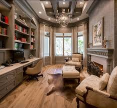 Elegant home office room decor Feminine Comfortable Elegant Home Office With Exquisite Lighting And Luxury Fireplace Love Everything Pinterest Comfortable Elegant Home Office With Exquisite Lighting And