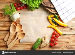 Parchment Paper And Vegetables On Kitchen Table Cooking Classes