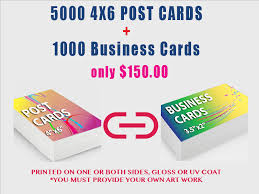 5000 4x6 Post Cards 1000 Business Cards Mac Impressions