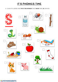 Here, you will find free phonics worksheets to assist in learning phonics rules for reading. Phonics Group 1 S Worksheet