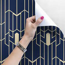 Navy Blue And Gold Peel And Stick ...
