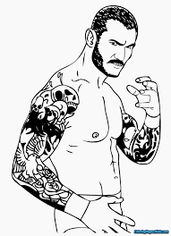 Terrific Wwe Coloring Pages Printable Book All Free Printables Hard