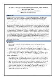 Sample Resume For Storekeeper In Construction Best of ResumeMechStore Keeper242424