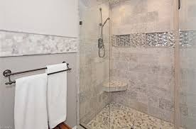 custom walk in shower silver travertine
