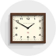 mid century wall clock dark wood newgate clocks mr davies hoomeware