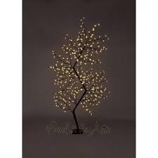 Fiber Optic Blossom Led String Lights 7ft Outdoor Led Zig Zag Cherry Blossom Tree Warm White Led