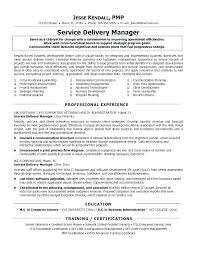 Service Delivery Manager Resume Custom Client Service Manager Resume Service Manager Resume Examples