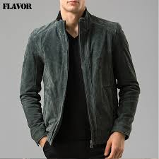 and mens real leather jacket motorcycle coat er jackets pigskin genuine leather jacket male coat