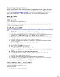 Cosmetology Resume Samples Cosmetology Resume Samples 100 Cosmetologist Examples Sample 6