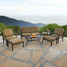 aluminum 7pc sofa chair table ottomans