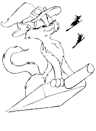 Small Picture Halloween Cat Coloring Pages Coloring Book