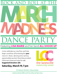 March Madness Flyer March Madness Dance Party Lanesville Community Center