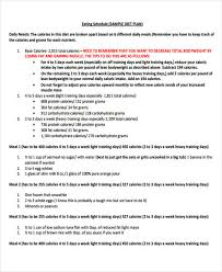 10 Diet Plan Templates Free Sample Example Format