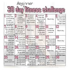 30 day home workout plan inspirational 30 day beginner s fitness challenge it s an all