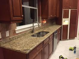 Kitchen Granite Countertop Santa Cecilia Granite Countertops Installation Kitchen