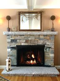 how to build a stone fireplace reface with veneer diy clean hearth firep