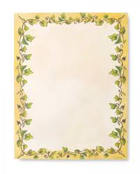 Ivy Border Stationery Paper 100 Count