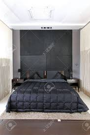 Small Bedroom Double Bed Modern Small Bedroom Interior With Large Double Bed Stock Photo