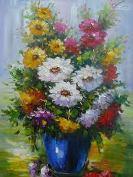 oil paint canvas art flowers wall decor contemporary prints and posters