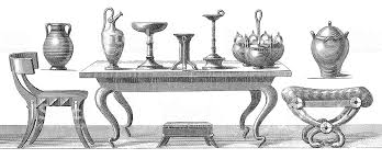 greek style furniture. Ancient Greek Furniture | Antique Style And Design Illustrations Royalty-free