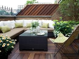rooftop garden design ideas wooden deck