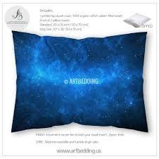 galaxy bedroom luxury deep space bedding set pink and purple nebula with stars duvet