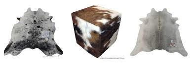not only will you find cowhides at great s you will also find cushions and ottomans made from the same superior cowhides used for the rugs