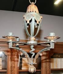 small antique gilt chandelier