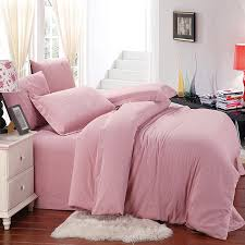 whole dropship home textile 100 cotton pink solid sanding wedding bedding set designer 4pcs bed sheet duvet cover king queen in bedding sets from home