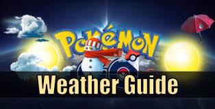 Pokemon Go Weather Chart
