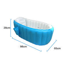 baby bathtub inflatable bathing tub collapsible air swimming pool