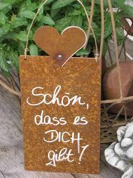 Edelrost Schild Mit Herz Schön Dass Es Dich Gibt Angels Garden