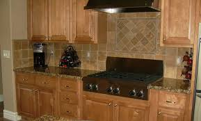 gas stove top cabinet. Awesome Tile Backsplash Kitchen Home Depot Cream Ceramic Brown Rustic Wood Cabinet Gas Stove Top