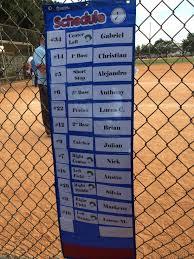Great Visual For T Ball Players To See Batting Order