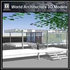 Van Interior Design Best Sketchup 48D Architecture ModelsFarnsworth HouseLudwig Mies Van Der