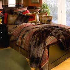 Red Brown Rustic Western Country Star Twin Queen Cal King Quilt Country Style Comforter Sets