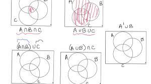 Venn Diagram About Sets Shading Venn Diagram Regions
