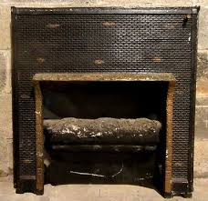 antique cast iron fireplace insert gas log ornate architectural salvage