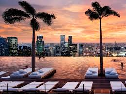 Modern Infinity Pool Singapore Wallpaper Bay A With Simple Ideas